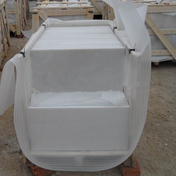 pure white marble stone // Laizhou kingstone Co.,Ltd