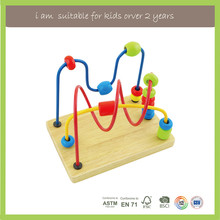 New Diy Kids Children Play Circle Bead Maze Wooden Toys for Kids