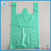 Recyclable vest handle shopping bags, vest bags