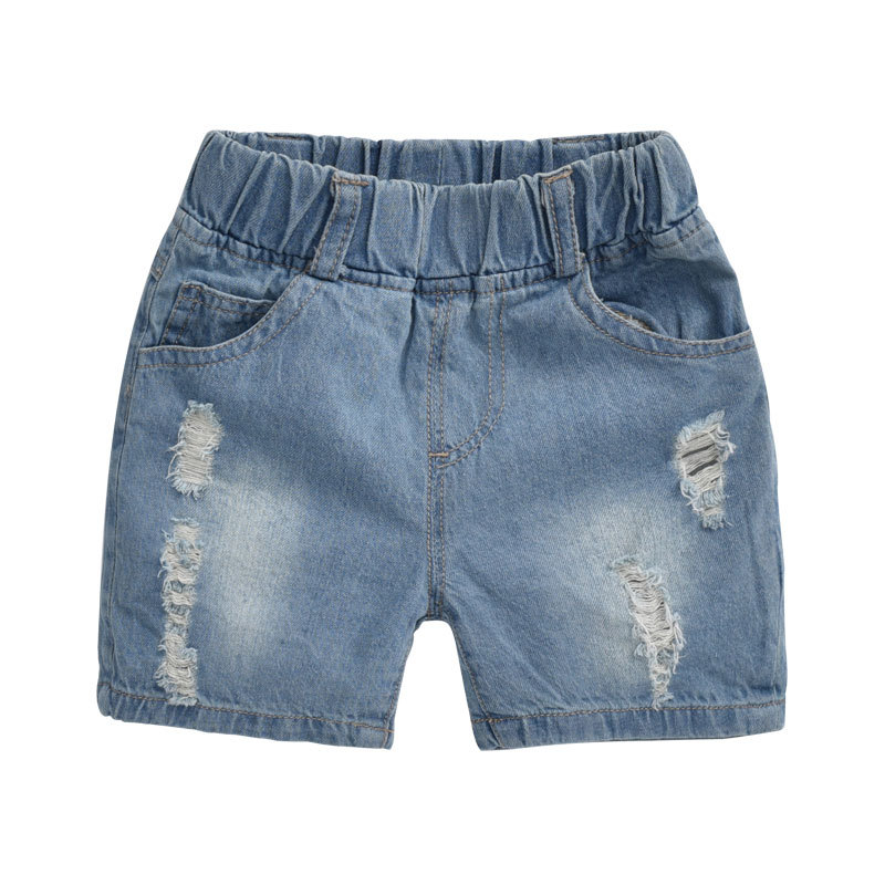 ripped jeans for kids 2015 kids Fashion denim clothing baby boy jeans for children brand slim casual denim knee-length pants