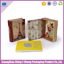 Cardboard paper decorative book shaped boxes wholesale christmas gift box