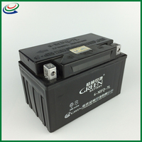 super start green motorcycle battery MF 12v battery
