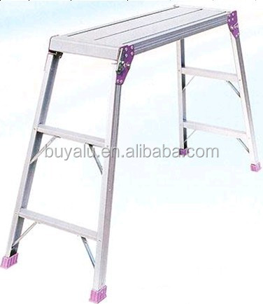 Hot sale aluminum platform ladder in Clear Anodized