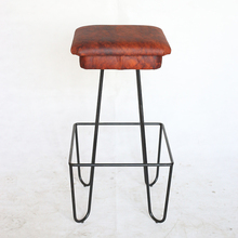 Durable, Real Leather Bar Stool For Family Use