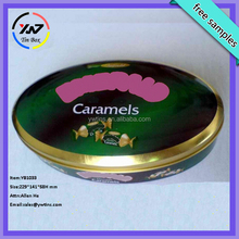 food grade big size oval storage tin cans wholesale biscuit tin boxes
