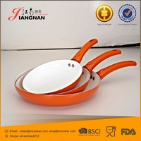 Press Aluminum Thicker Base Provides Even Heat Distribution Ceramic Pan