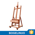 in stock 62*66*180(270)cm professional wood artist easel with four wheels