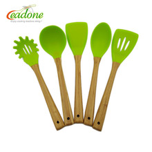 Silicone Kitchen Utensil Set 5 Piece heat resistant Non-Stick Baking Tool Silicone Utensils Cooking