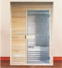 High quality wooden material dry sauna /wet steam combination type