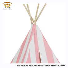 Pink And White Stripes High Quality Teepee Kids Play Tent House