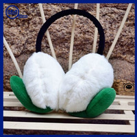 Yhao amazon supplier earmuffs winter adjustable ears protection cold ear warmer winter knit fashion earmuffs with green leaves