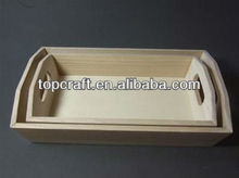 Pair of Plain wooden Wood Small Bread Trays Craft