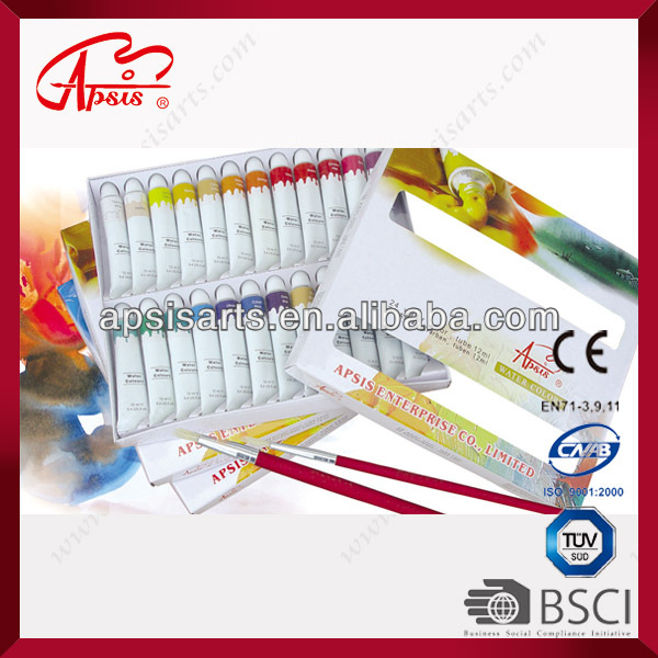 12ml tube*24 colours water colour in colour box