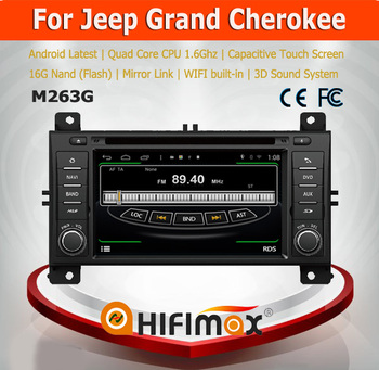 Hifimax For Jeep Grand Cherokee wk 2011 2012 2013 Android 4.4.4 GPS DVD Player Navigation System With 1G RAM 16G Flash