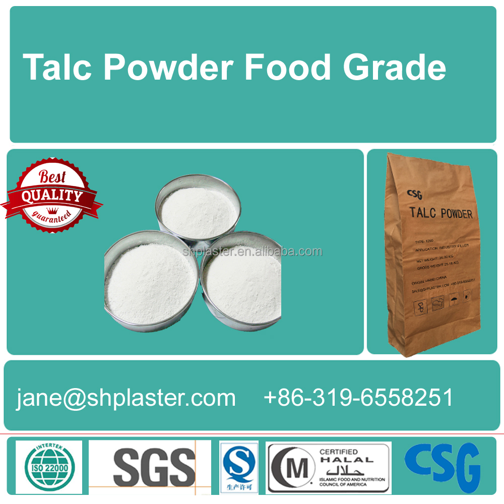 Supply food grade Talc Powder with high quality and best service