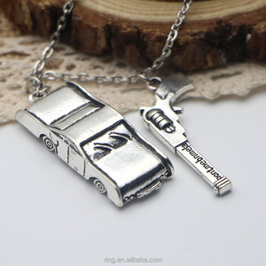 Wholesale Supernatural Dean Winchester Necklace Car Design Necklace Silver Gun Necklace for Men