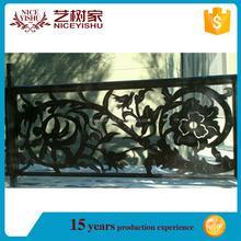 italian antique automatic sliding laser cut metal fence, residential cellular fence, beautiful aluminum fencing