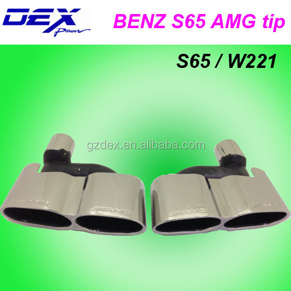 auto spare racing tuning performance exhaust muffler for BMW w 221sport tip