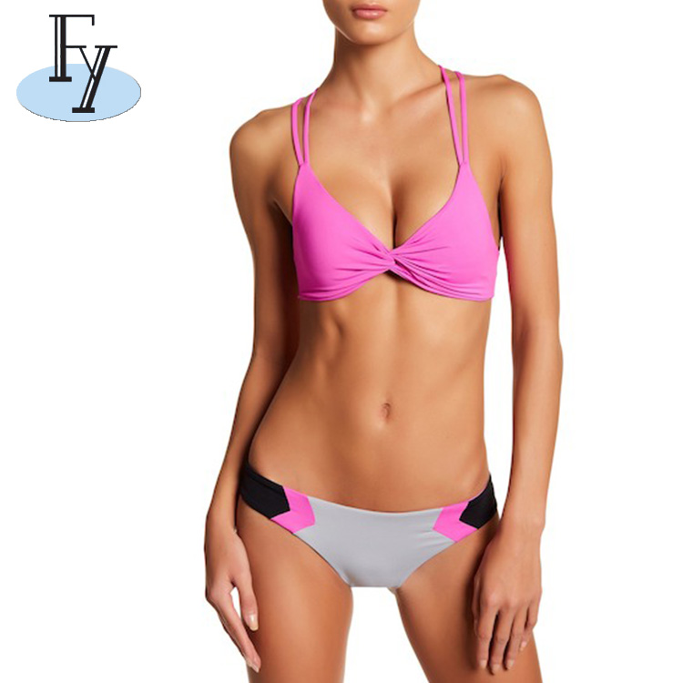Sublimation Printing OEM Private Logo Swimsuits Lady Sex Beach Bikini