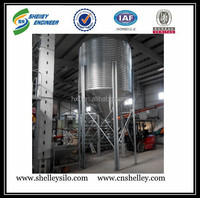 Used small steel silo for grain feed storage