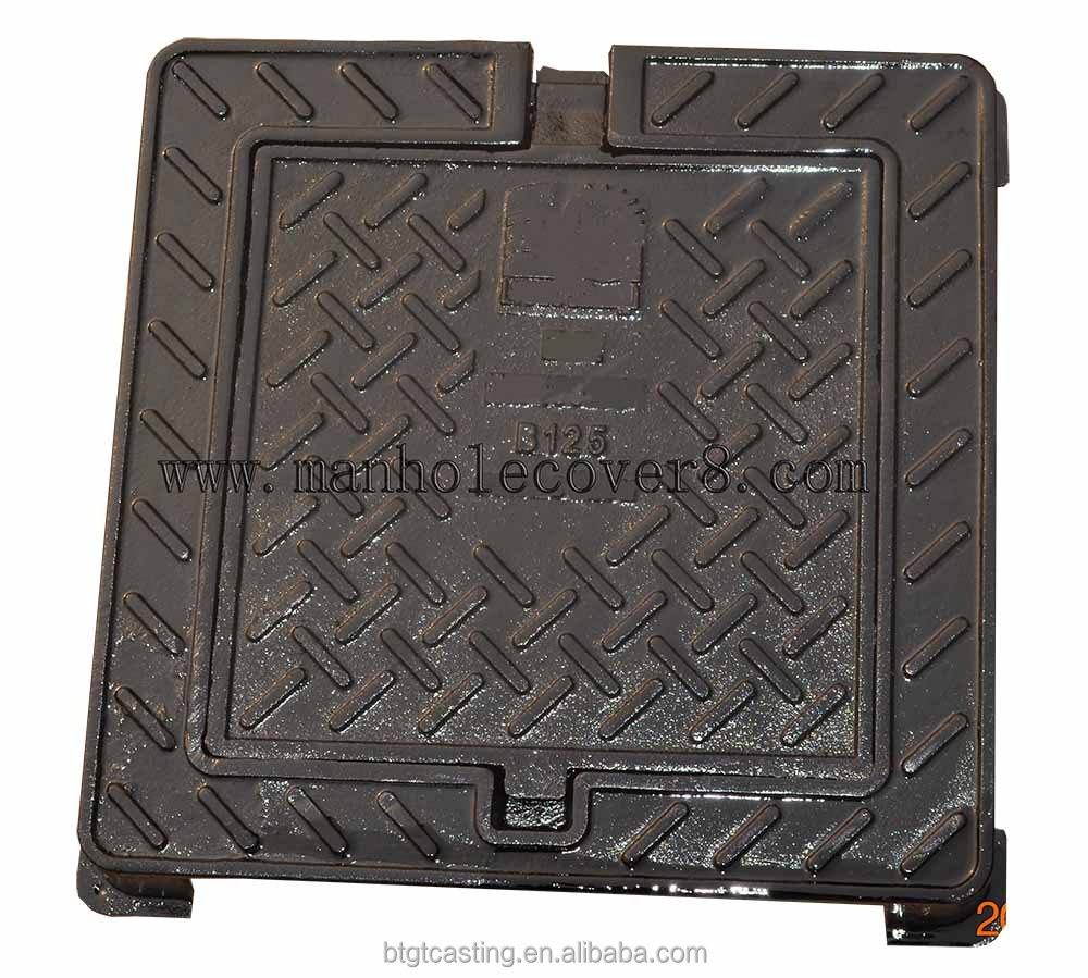300x300 square E600 double sealed manhole cover and frame provider