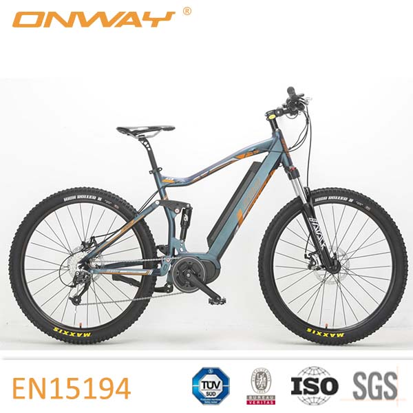 "27.5"" Full Suspension Bafang Max System Mid Drive Mountain Electric Bike"