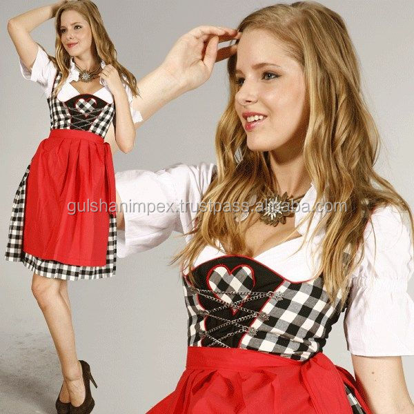 Design embroidery dirndl dress
