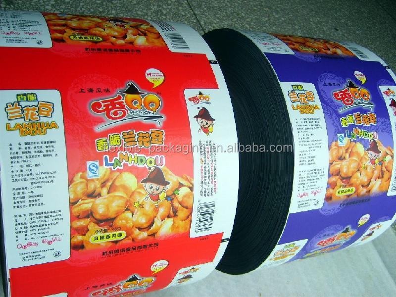 Snack Food Packaging Laminating Film Rolls PET/PE PET/VMPET/PE BOPP/CPP