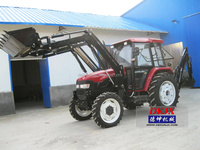 Tractor Cabin With Air Condition 40HP 4WD Tractor With Backhoe Price