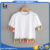clothing women summer 2017 contrast tassel trims blank white tees