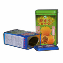 colorful round metal tin box for perfume pack