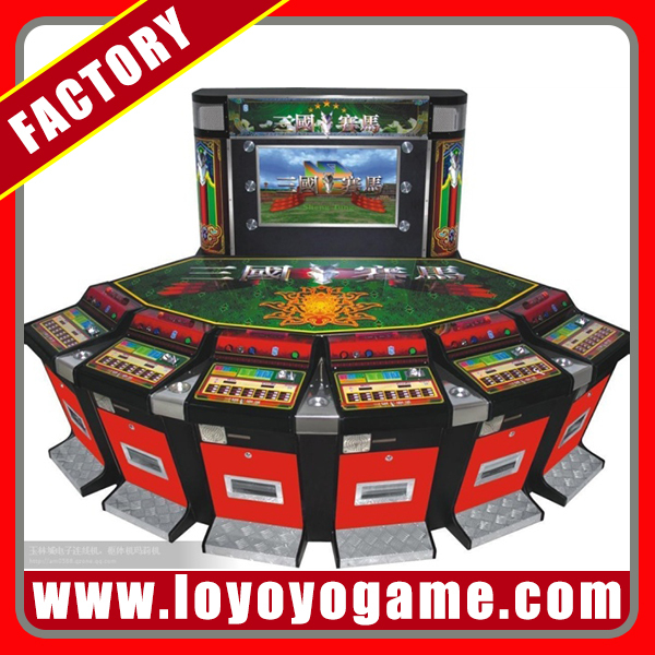 "50"" LCD coin opersted horse racing arcade slot game machine customer design factory"