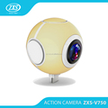 2017 new model real 360 dgree camera 4k dual lens