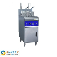 Commercial automatic deep fryer 2 baskets with auto lift function 28 liters automatic chip fried chicken meat (SY-TF26F SUNRRY)