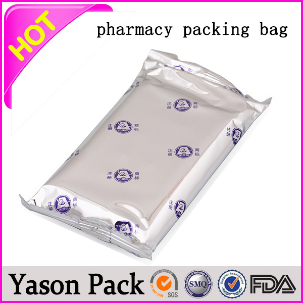 Yason customized logo printed stand up aluminum foil bag for chicken drug powder