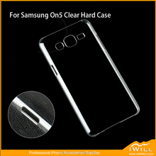 Anti Scratch Plastic Protective Clear Hard Back Cover For Samsung Galaxy On7 , mobile phone hard case