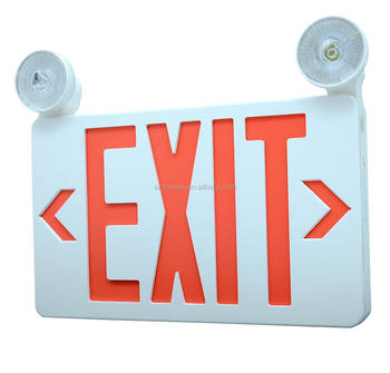 COMBO UL emergency exit sign light