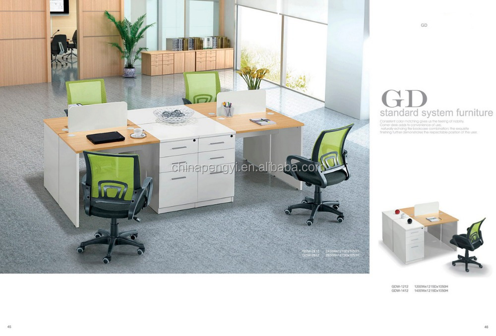 Special design modern office partner table with partition office desk