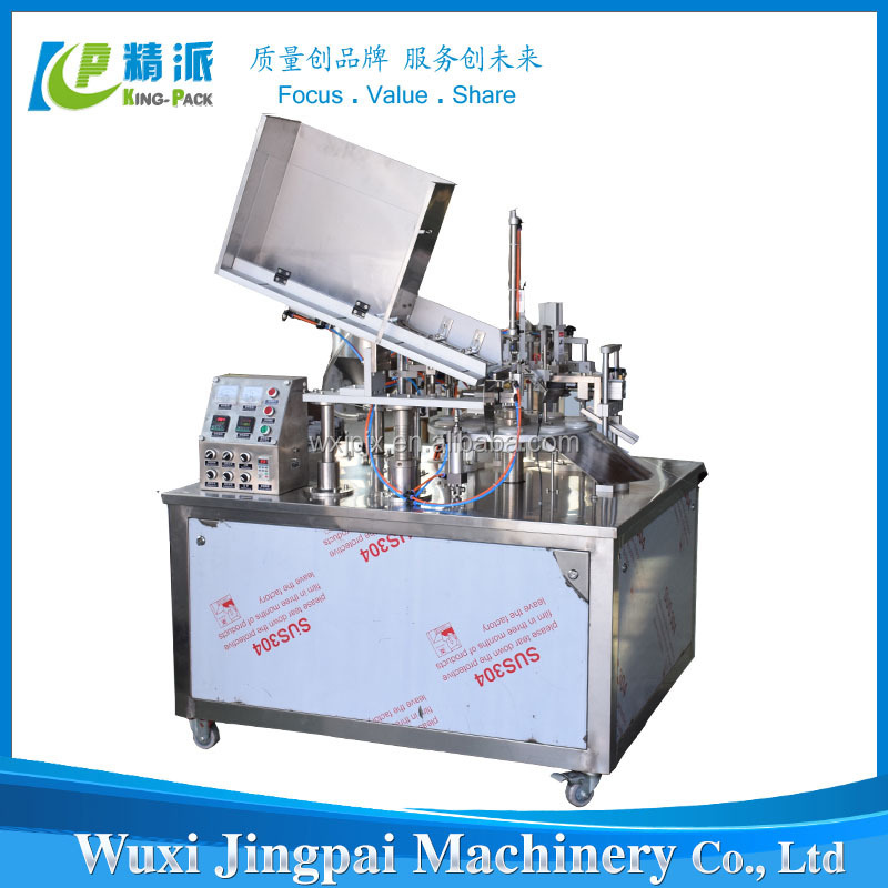GMP standard hot sale KP fully automatic plastic tube filling and sealing machine for lipstick ,BB cream,toothpaste etc