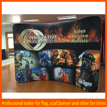 With quality warrantee factory directly straight or curved shape trade show exhibit design