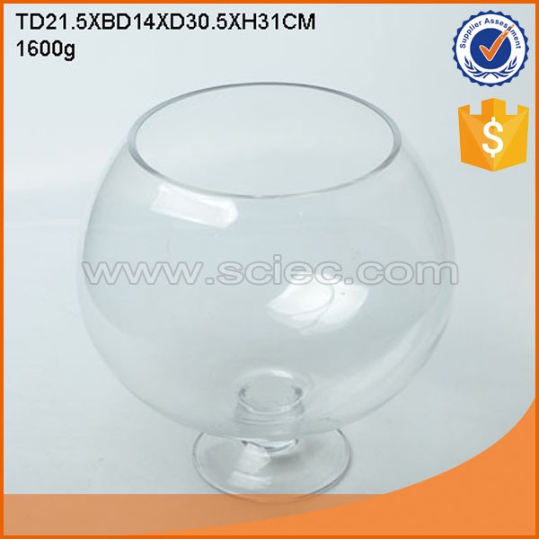 Clear bottom price large round glass fish bowl buy round for Fish bowl price
