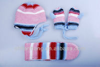 kids winter set Knitted Hat Scarf and Gloves