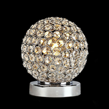 Elegant style home good decoration crystal ball table Lamp led table light lighting for living room bedside