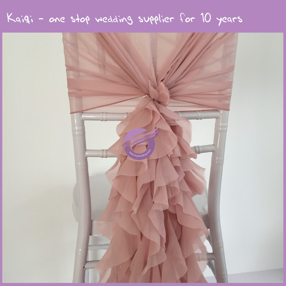YT07038 Fashionable design chiffon chair covers