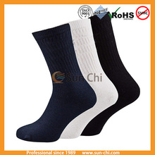 crew all white with black heel contents:-80% cotton and 20 % manmade yarn color: - black-grey-blue