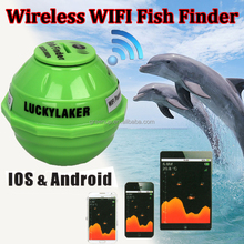 2017 Lucky Sonar Wireless WIFI Fishfinder 130ft Depth Ocean For Iphone IOS & Android,lucky fishing finder for Android