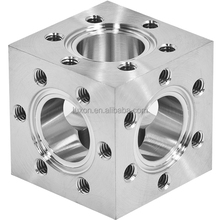 conflat 6way Square flange CF Stainless steel floor tube a105 flanges