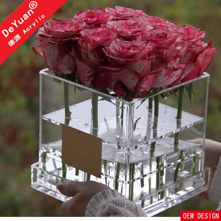 Square Flower Box Packing With round Corners Luxury