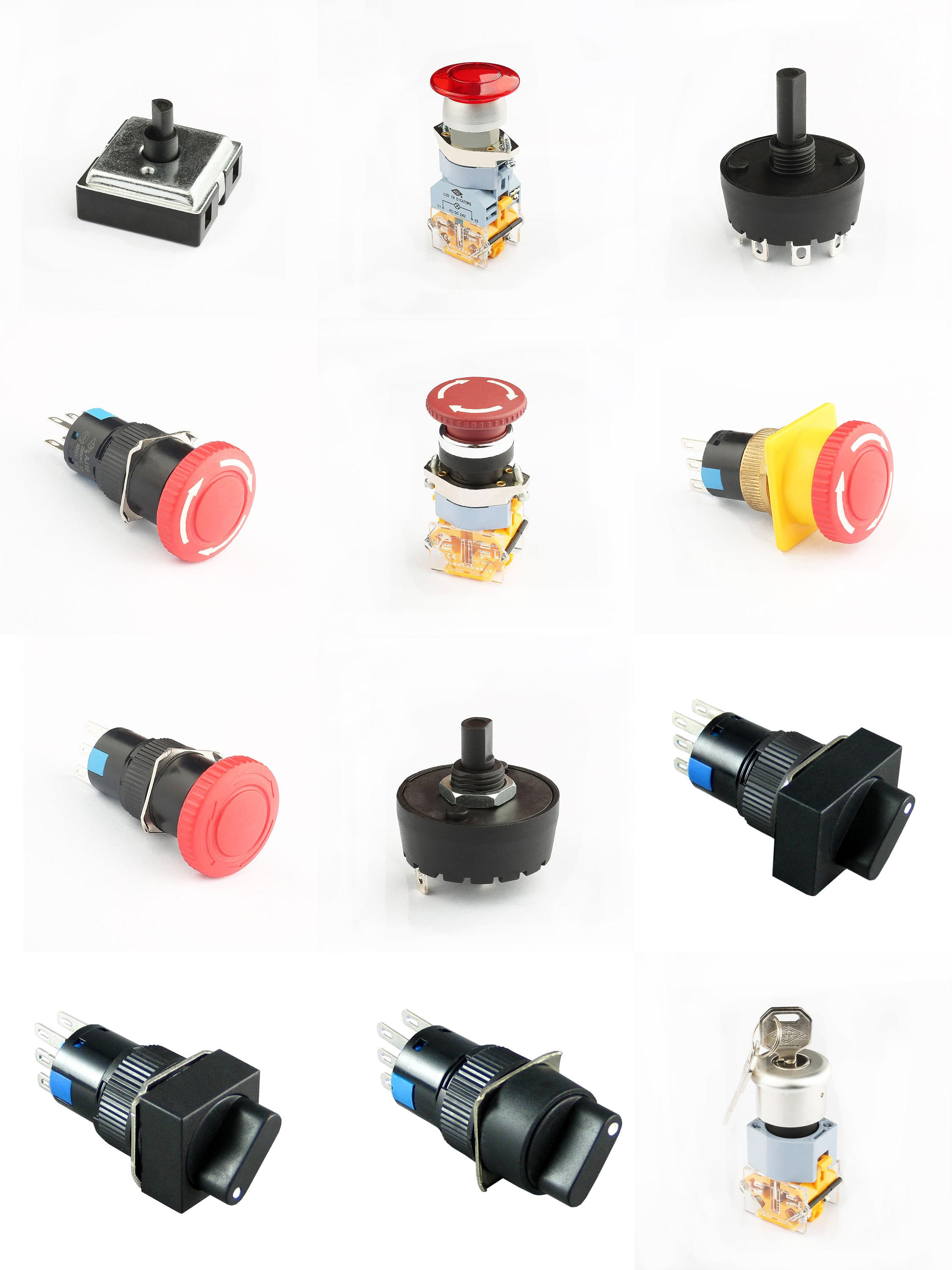 Hot selling good quality 3a 250v 3 phase rotary switch