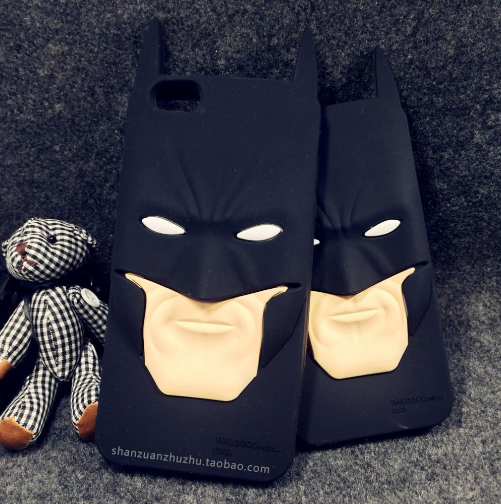 Free shipping Fashion 3D Cartoon Anime Superhero Batman Silicone Rubber Back Cover Case For iPhone 5 5s 6 6s plus 4 4s,50pcs/lot